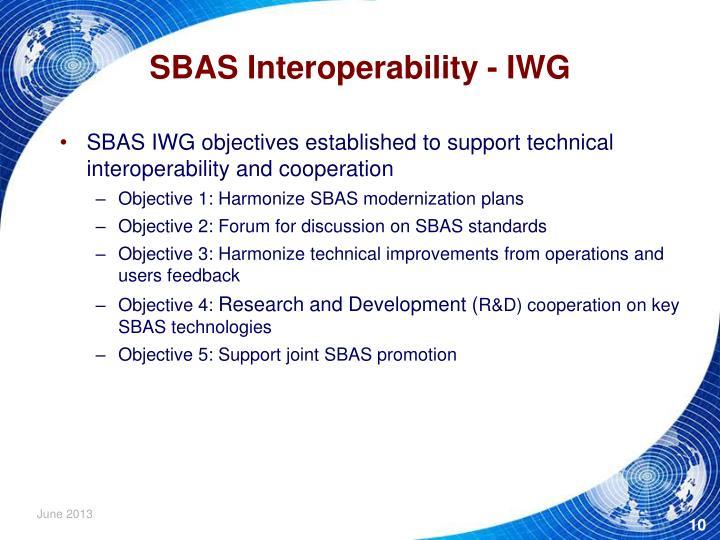 SBAS Interoperability - IWG