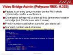 video bridge admin polycom rmx h 323