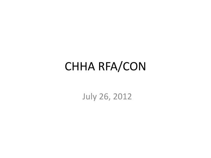CHHA RFA/CON