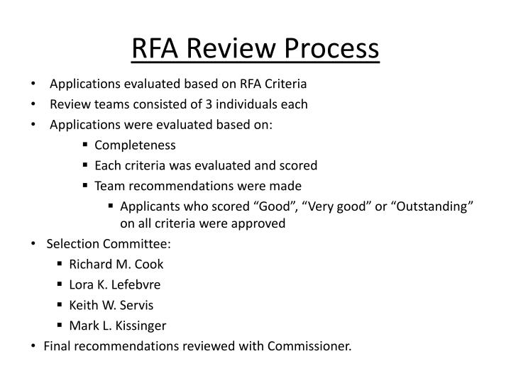 RFA Review Process