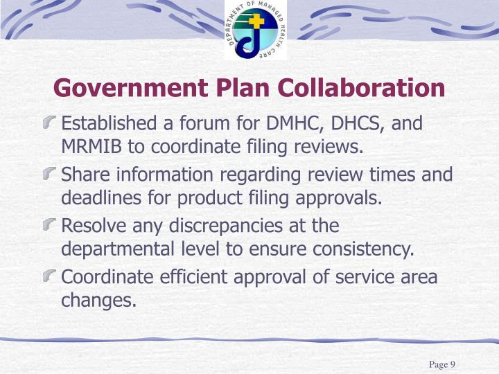 Government Plan Collaboration