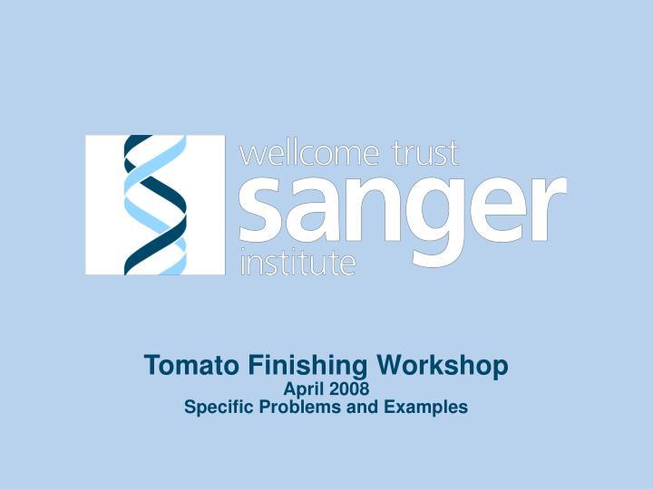 Tomato Finishing Workshop