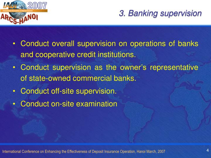 3. Banking supervision
