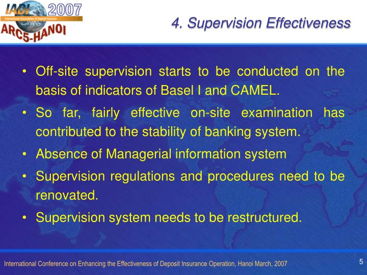 4. Supervision Effectiveness
