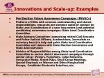 innovations and scale up examples