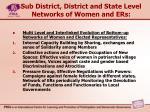 sub district district and state level networks of women and ers