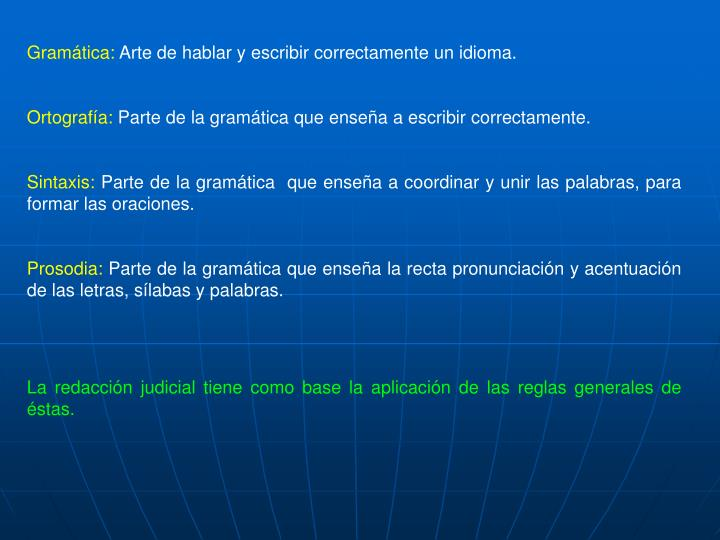 Gramática: