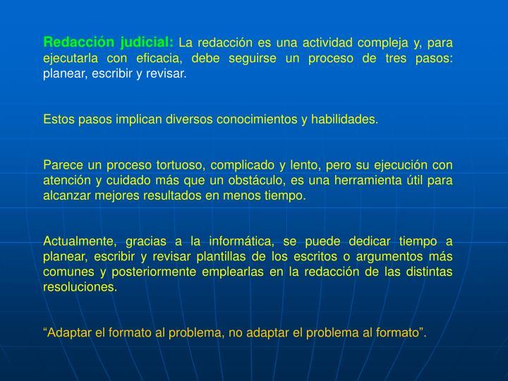 Redacción judicial: