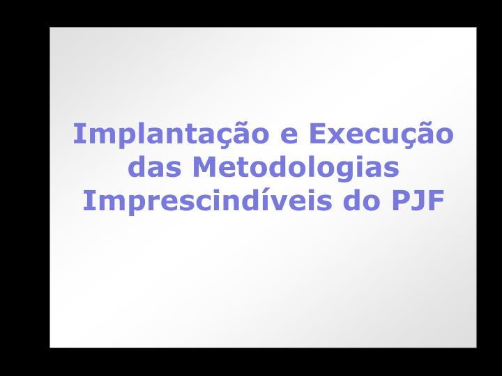 Implantação e Execução das Metodologias Imprescindíveis do PJF