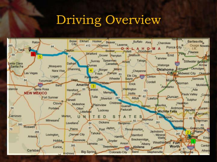 Driving Overview