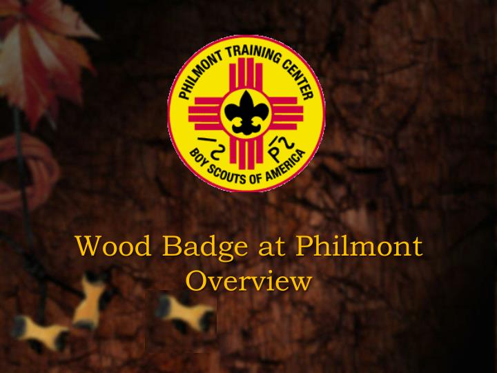 Wood Badge at