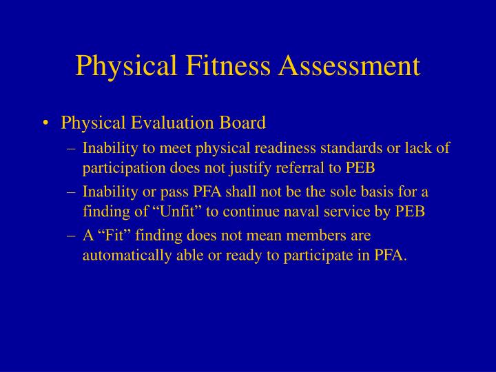 physical fitness evaluation What do the nfpa 1582 physical fitness requirements say in order to  tests  performed during nfpa 1582 fitness evaluation firefighters.