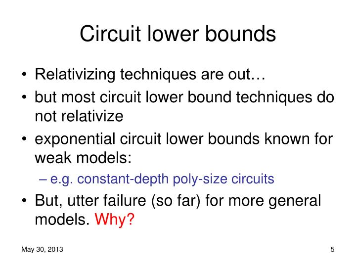 Circuit lower bounds