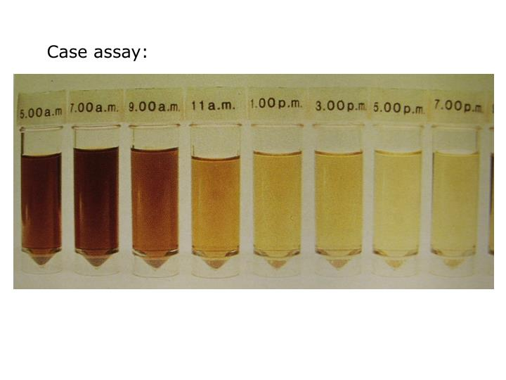 Case assay: