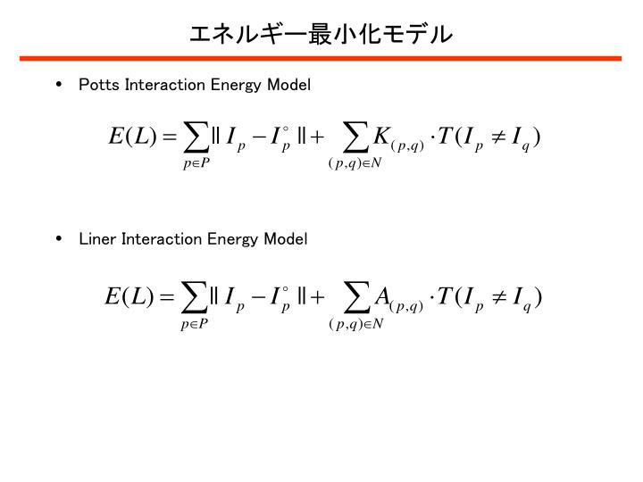 エネルギー最小化モデル