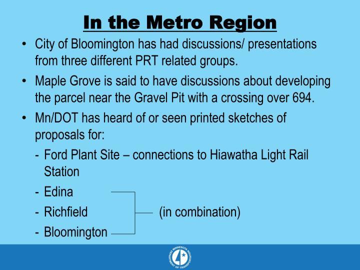 In the Metro Region