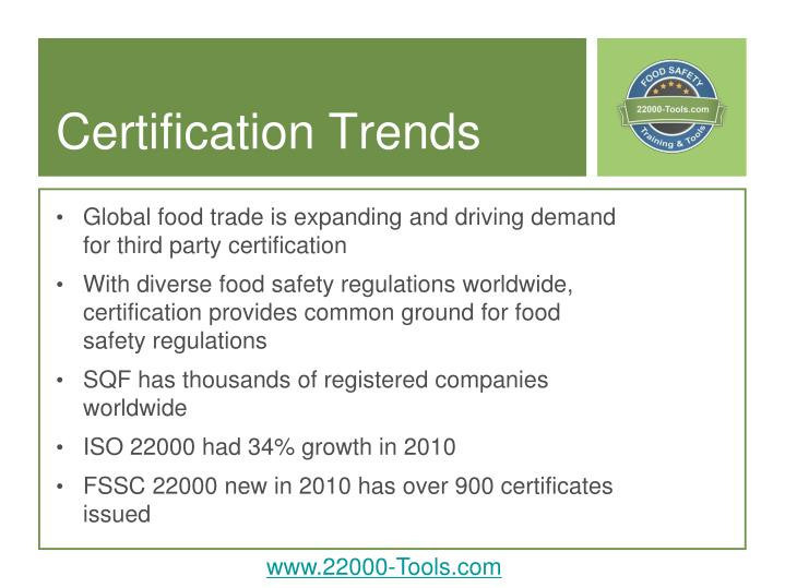 Certification Trends