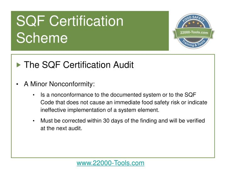 sqf certification powerpoint guidance introduction additional notes audit system ppt presentation code