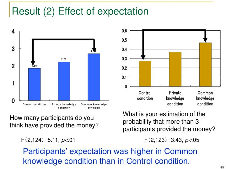 Result (2) Effect of expectation