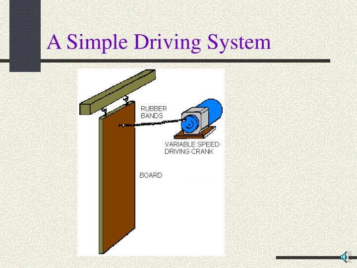 A simple driving system