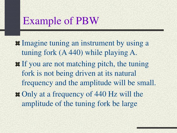 Example of PBW
