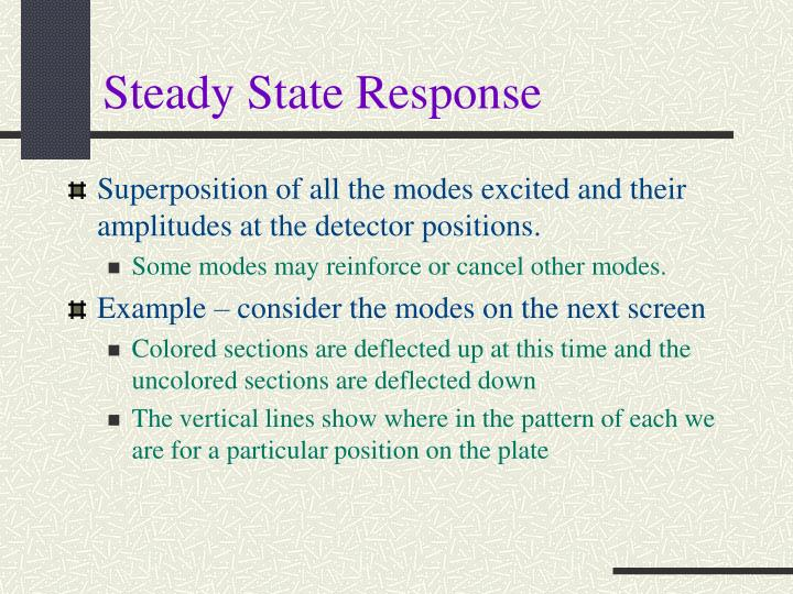 Steady State Response