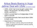 airbus beats boeing in huge jetliner deal with usair 11 6 96 ny times