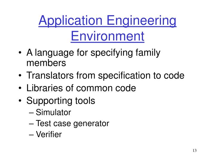 Application Engineering Environment