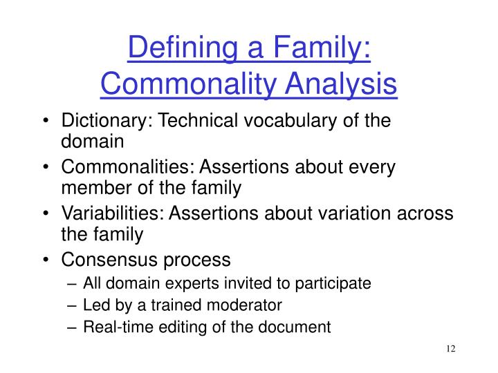 Defining a Family: