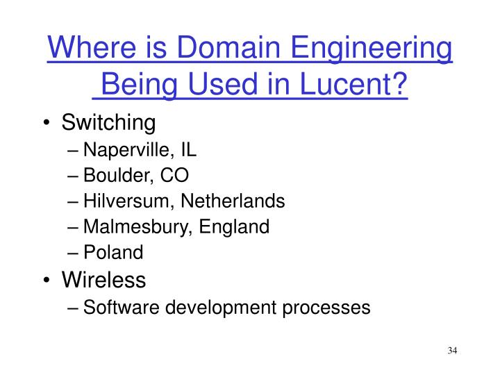 Where is Domain Engineering