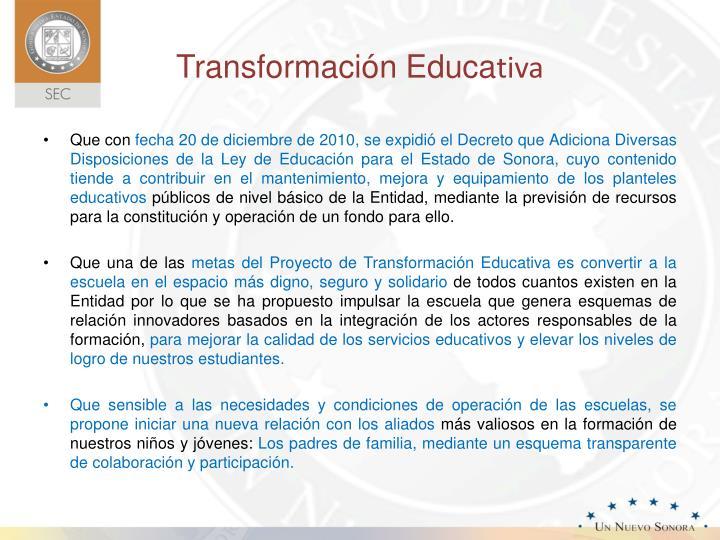 Transformación Educa