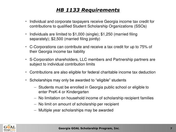 HB 1133 Requirements