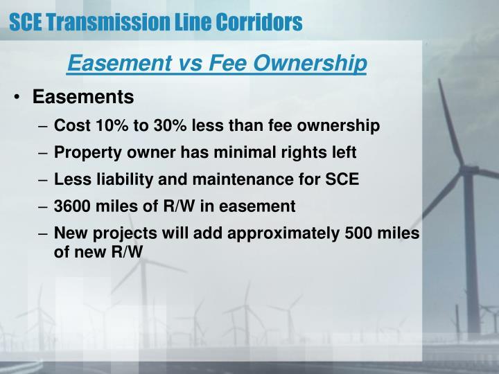 Easement vs Fee Ownership