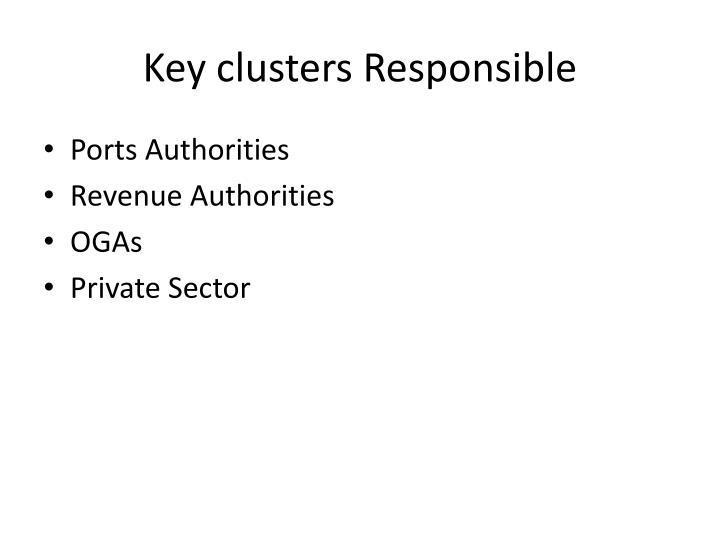 Key clusters Responsible