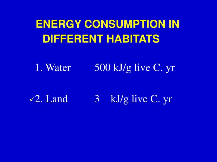 ENERGY CONSUMPTION IN
