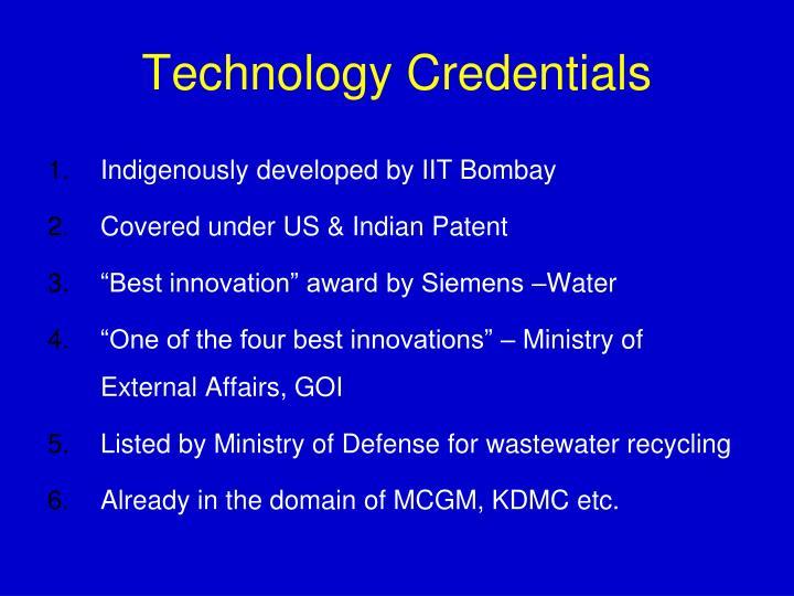 Technology Credentials