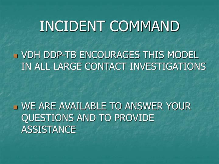 INCIDENT COMMAND