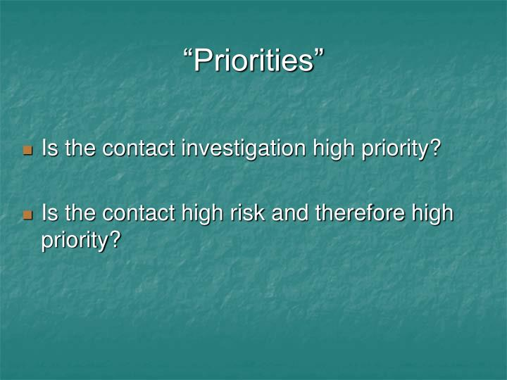 """Priorities"""