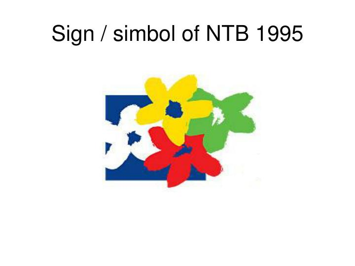 Sign / simbol of NTB 1995