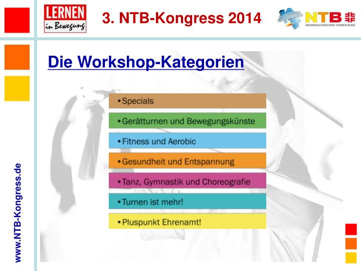 Die Workshop-Kategorien