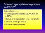 does an agency have to prepare an eeop