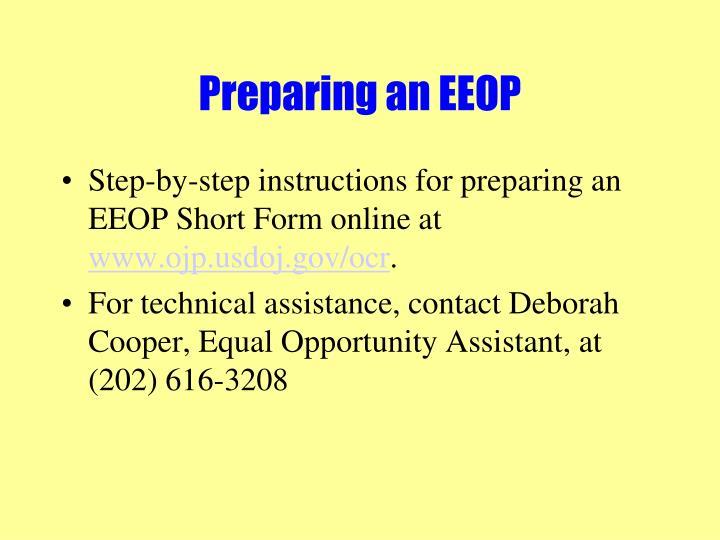 Preparing an EEOP
