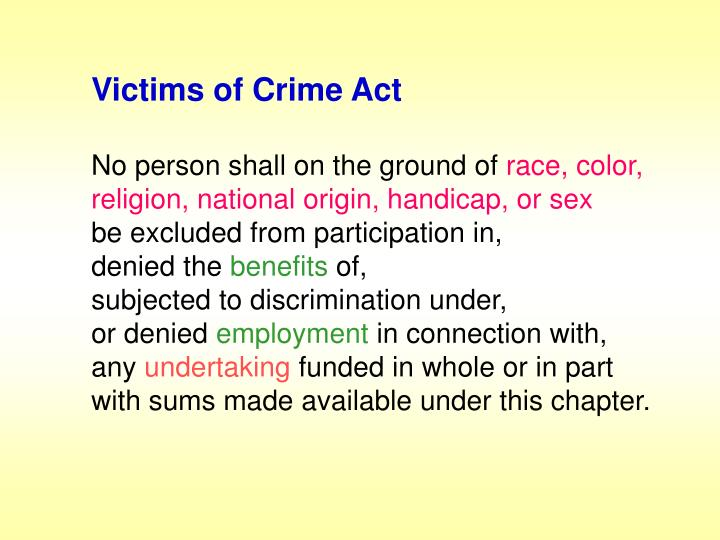 Victims of Crime Act