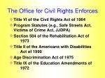 the office for civil rights enforces
