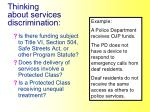 thinking about services discrimination