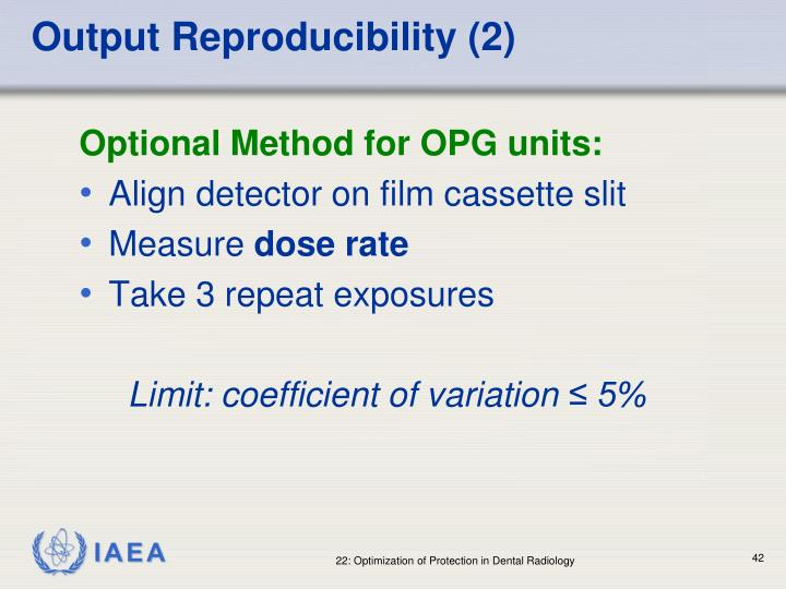 Output Reproducibility (2)