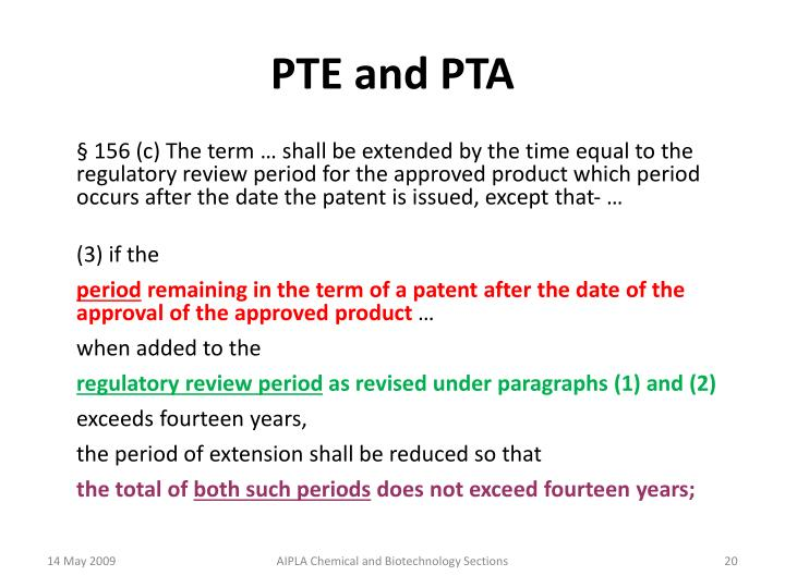 PTE and PTA