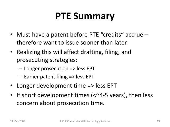 PTE Summary
