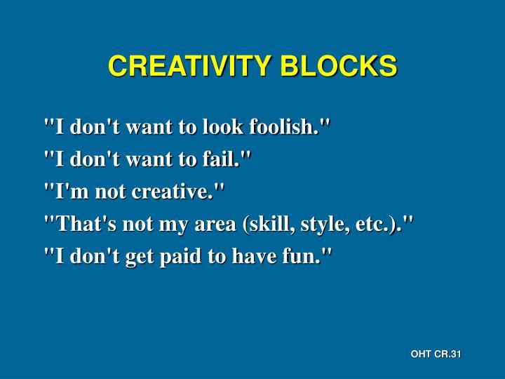 CREATIVITY BLOCKS