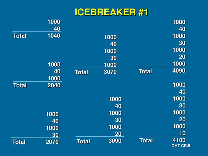 ICEBREAKER #1